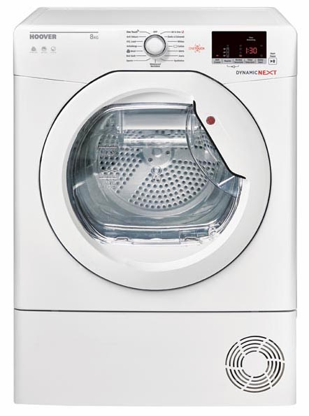Hoover DXC8DE-80 Dynamic Next Freestanding Condenser Tumble Dryer White