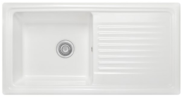 Homestyle CD100L Inset Large Ceramic Bowl Sink White