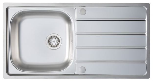 Homestyle KD100L `Pack` Kona Single Bowl sink + HS605 Tap Inset Sink with tap Stainless steel