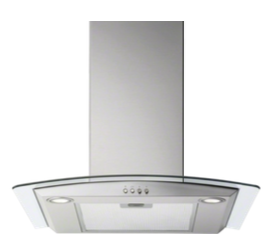 Electrolux EFL356A Curved Cooker Hood Stainless steel