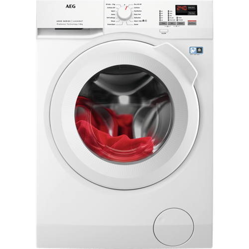 AEG L6FBK841N Freestanding Washing Machine White
