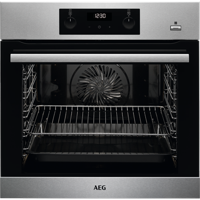 AEG BES355010M SteamBake 71Litre Built-in Single Electric Oven Stainless steel