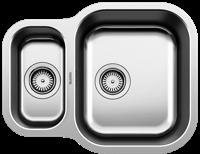 Blanco ESSENTIAL 530-U 1.5 Bowl Undermount Sink Stainless steel