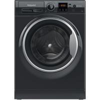 Hotpoint NSWM 1044C BS UK N 10kg 1400spin 59.5cm ( NSWM1044C ) Freestanding Washing Machine Black