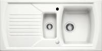 Blanco Setura 6 S Inset 1.5 Bowl Ceramic Sink Crystal White