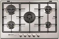 Bauknecht TGW6572IXL iXelium  75cm 5 Burner Gas Hob Stainless steel