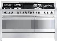 Smeg A5-8 Opera 150cm Dual Cavity Dual Fuel Range Cooker Stainless steel