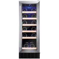 Amica AWC300SS 30cm UnderCounter  20 Bottle Freestanding Wine Cooler Stainless steel