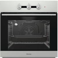 Hisense BI3111AXUK 60cm Single Fan Oven with Steam Clean Built-in Single Electric Oven Stainless steel