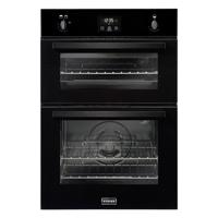 Stoves BI900G 90cm 444444843 Built-in Double Gas Oven Black