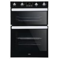 Belling BI902FP 444444786 90cm Built-in Double Electric Oven Black