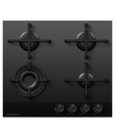 Fisher & Paykel CG604DNGGB4 60cm Gas on Glass (Only 1 - Cancelled Order - new & boxed ) Gas Hob Black