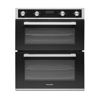 Montpellier DO3550UB 60cm 'A/A Rated' Built-Under Double Electric Oven Stainless steel