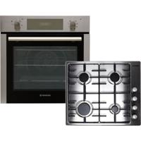 Hoover HPKGAS60X/E Electric Oven with Gas Hob Built-in Oven and Hob Pack Stainless steel