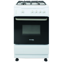 Montpellier SCG60W 64Litres Freestanding Gas Cooker White