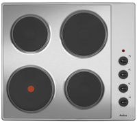 Amica AHE6000SS 60cm 4 Zone Solid-Plate Electric Hob Stainless steel