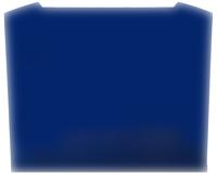 Luxair SPLASH-90-CVD-BLU-GL Splashback Blue