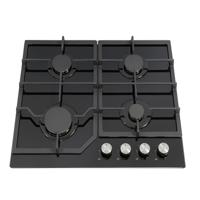 Montpellier GH60BG 60cm 4 Burner (Only 1 Left in Stock - New & boxed) Gas Hob Black Glass