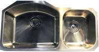 Homestyle DALLAS UM2036 Undermount 2 x Bowl Sink Stainless steel