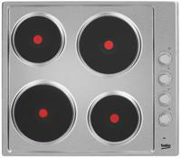 BEKO HIZE64101X 4 x Zone, 58cm Solid-Plate Electric Hob Stainless steel