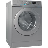 Indesit BWA81485XSUKN 8kg 1400spin 59.5cm Push & Wash Freestanding Washing Machine Silver