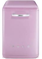 Smeg DF6FABRO 50's Retro Style Freestanding Dishwasher Pink