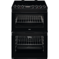 AEG CCB6740ACB 60cm Ceramic Freestanding Electric Cooker Black