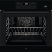 AEG BEB355020B STEAMBAKE 71Litres AQUA CLEAN ENAMEL Built-in Single Electric Oven Black