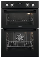 Zanussi ZOD35802BK 60cm Built-in Double Electric Oven Black