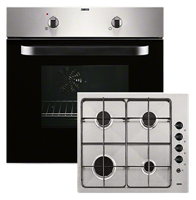 Zanussi ZPGF4030X Built-in Fan Oven With Gas Hob Stainless steel