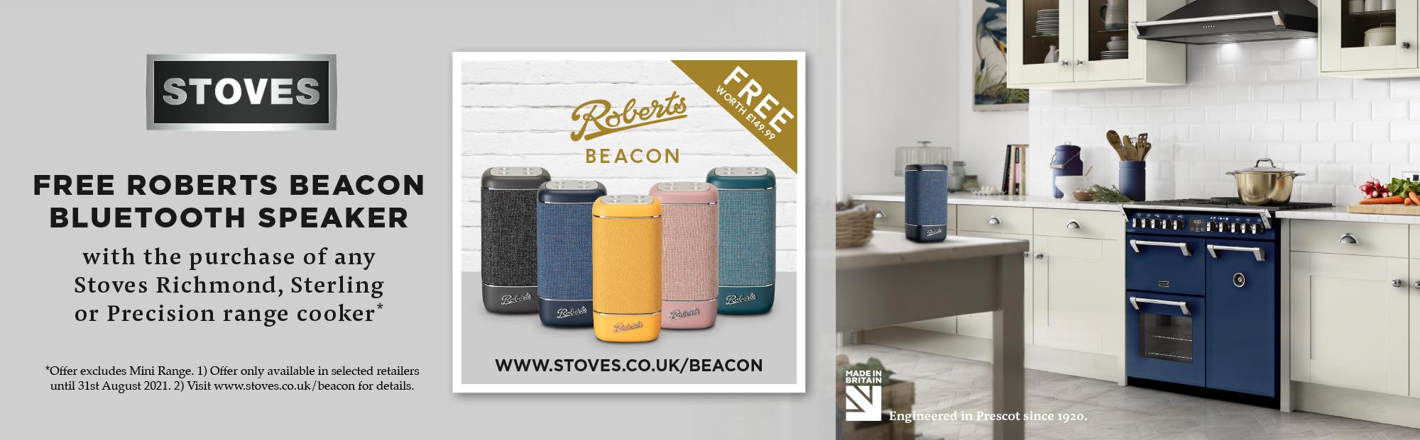 Stoves Free Roberts Beacon Bluetooth Speaker