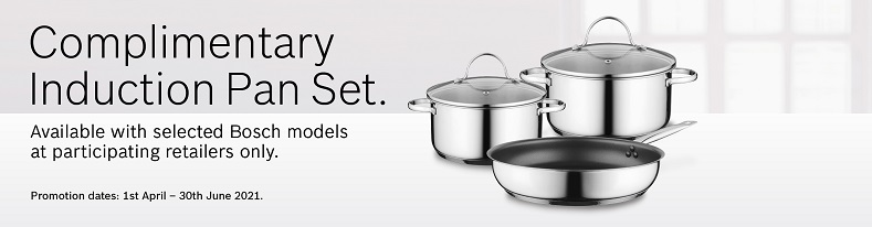 Bosch Complimentary induction pan set
