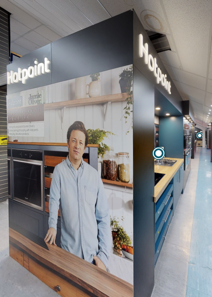 Hotpoint kitchen appliances on display in Liverpool Showroom