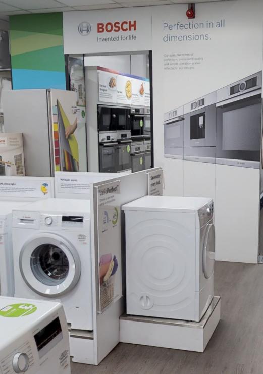 Bosch kitchen appliances on display in Liverpool Showroom