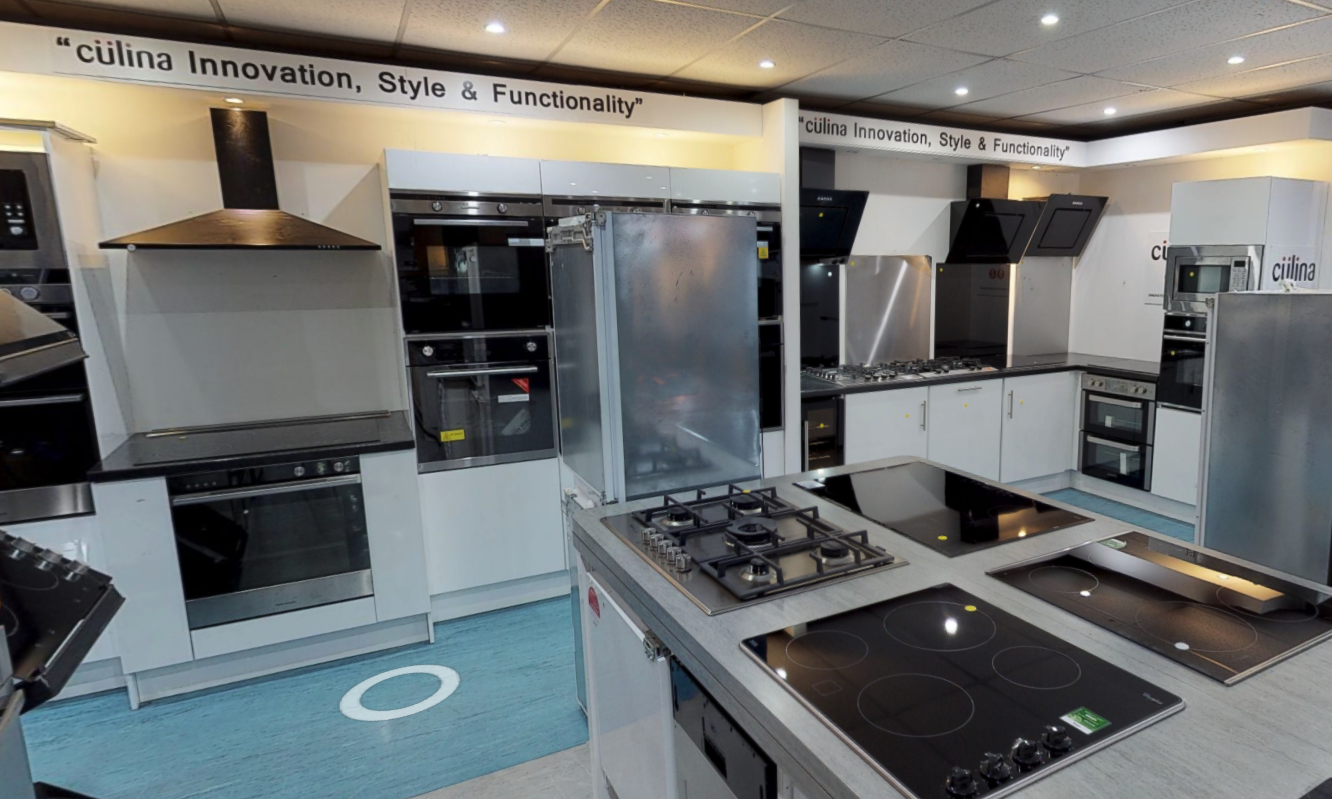 Culina kitchen appliances on display in Liverpool Showroom
